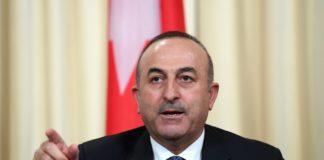 На снимката: Турският външен министър Мевлют Чавушоглу