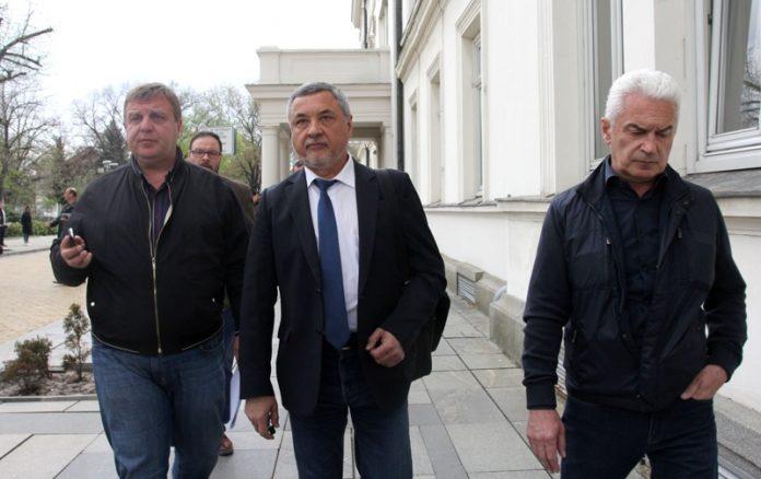 Волен Сидеров, Красимир Каракачанов, Валери Симеонов