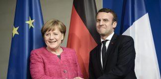 Ангела Меркел и Еманюел Макрон