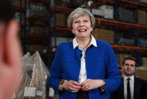 на снимката: премиерът на Великобритания Тереза Мей