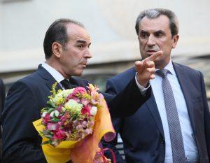 На снимката: Бившият преемиер Пламен Орешарски и бившият управител на БНБ Иван Искров