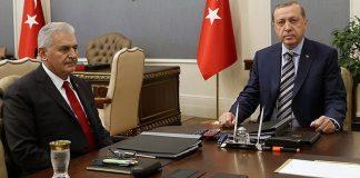 Бинали Йълдъръм и Реджеп Ердоган