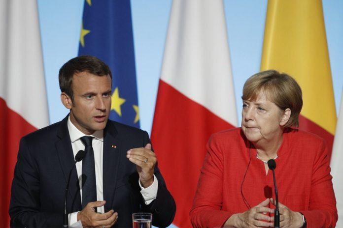 Макрон и Меркел