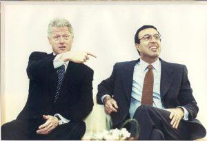 На снимката: Бил Клинтън и Петър Стоянов