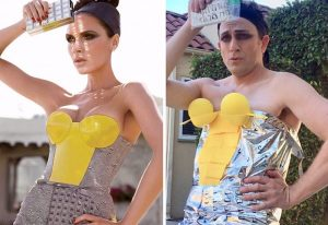 Tom Lenk As Victoria Beckham