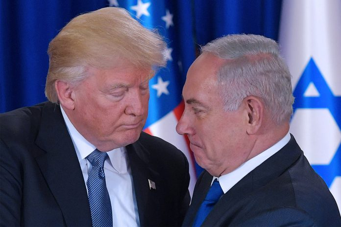 Доналд Тръмп, Бенямин Нетаняху
