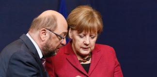Ангела Меркел, Мартин Шулц