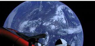 Дубай съд Тесла, космос