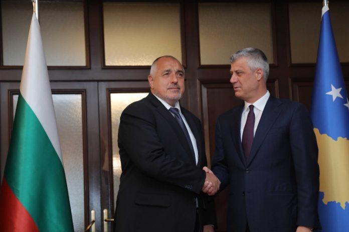 Премиерът Бойко Борисов и президентът на Косово Хашим Тачи