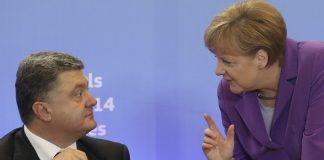Петро Порошенко и Ангела Меркел