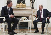 Александър Вучич и Владимир Путин
