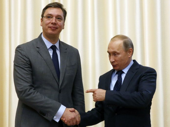 Вучич, Путин