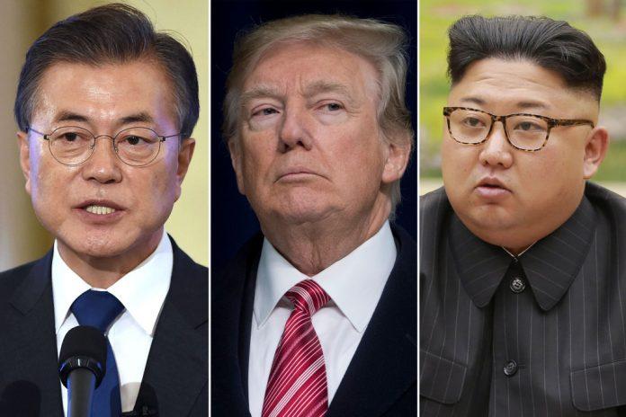 Мун Дже Ин, Доналд Тръмп, Ким Чен-Ун
