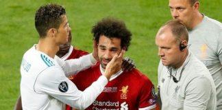 Голямата звезда на Реал Мадрид и Португалия Кристиано Роналдо засипа с похвали Мохамед Салах. Според португалеца голмайсторът на Ливърпул е е