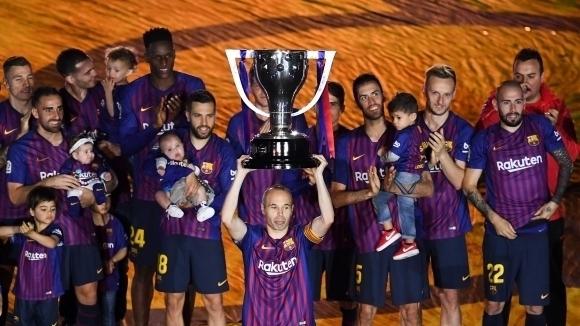 Испанският гранд Барселона стана първият клуб в историята с футболисти във всички групи на Световно първенство.Каталунц