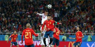 Испания и Мароко направиха зрелищно равенство 2:2 в Калининград при последния си мач от група B на световното първенство по футбол в Рус