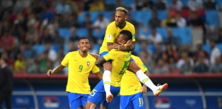 """Бразилия победи Сърбия с 2:0 в последен мач от груповата фаза на Мондиала в Русия. """"Селесао"""" започна по-силно двубоя, но след първите 5-10 мин"""