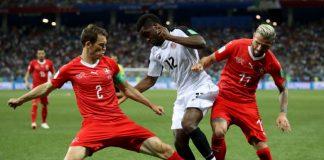"""Швейцария се класира на осминафиналите на световното първенство в Русия, след като в последен мач от група """"Е"""" направи равенство 2:2"""