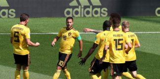 """Белгия се позабавлява с Тунис, печелейки срещата от Група """"G"""" на Мондиал 2018 с 5:2 и така почти си осигури участие в следващата фаза на турнира."""