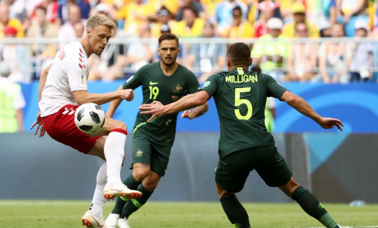 Дания и Австралия завършиха наравно 1:1 в мач от втори кръг на група