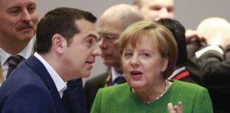 Алексис Ципрас, Ангела Меркел, мигранти