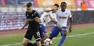 """Славия загуби с 0:1 гостуването си на Хайдук в първа среща от елиминациите от предварителните кръгове на Лига Европа. """"Белите"""" пропус"""