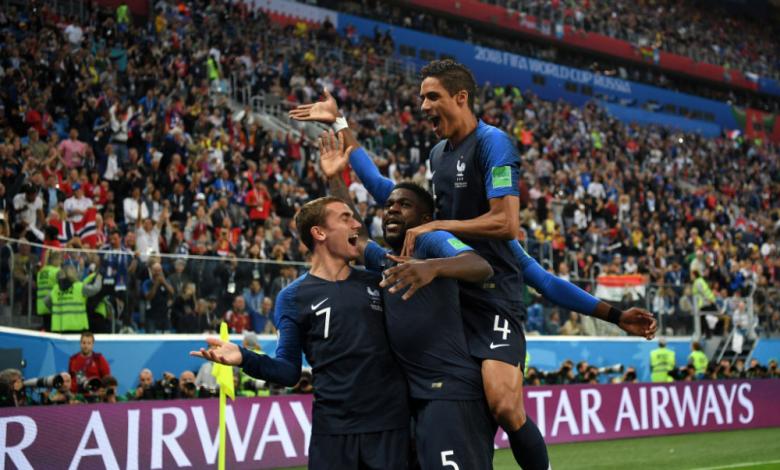 """Франция надви Белгия с минималното 1:0 на стадион """"Крестовски"""" в Санкт Петербург и е първият финалист на световното първенство по футбол в Ру"""