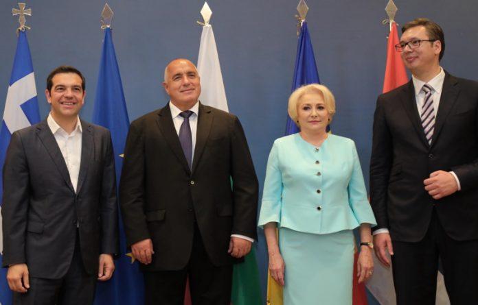 Борисов, Вучич, Ципрас, Дънчила