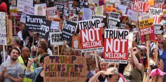 Протест, Доналд Тръмп, Великобритания