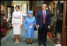 Доналд Тръмп, Мелания, Елизабет II