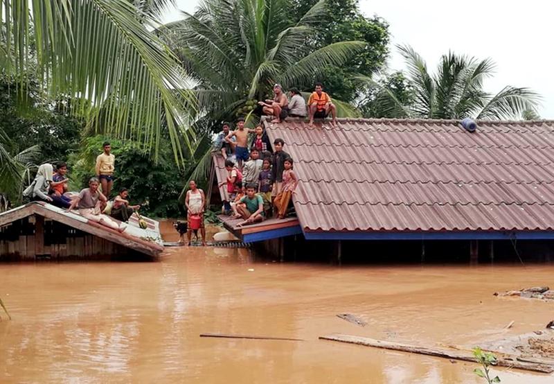 наводнение, Лаос, язовирна стена