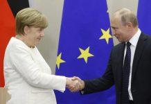 Ангела Меркел, Владимир Путин