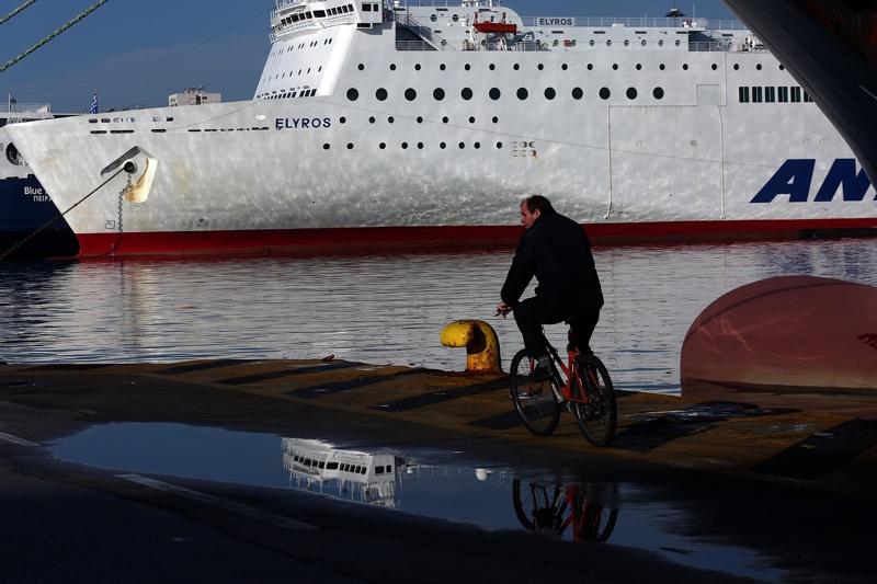ферибот, Гърция, стачка
