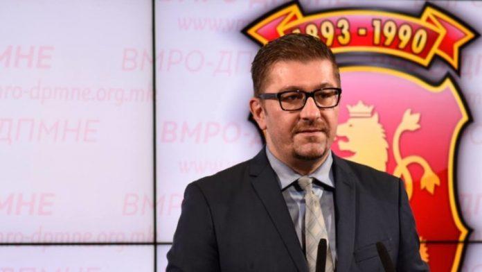 лидерът на най-голямата опозиционна партия ВМРО-ДПМНЕ Християн Мицкоски