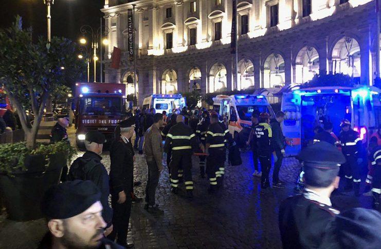 Рим, метро, инцидент
