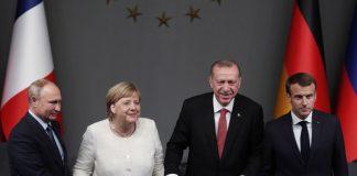 Меркел, Ердоган, Макрон, Путин