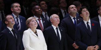 Меркел, Макрон, Путин, президенти