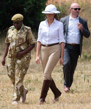 Мелания Тръмп, Африка