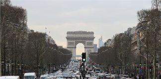 Париж, трафик, коли