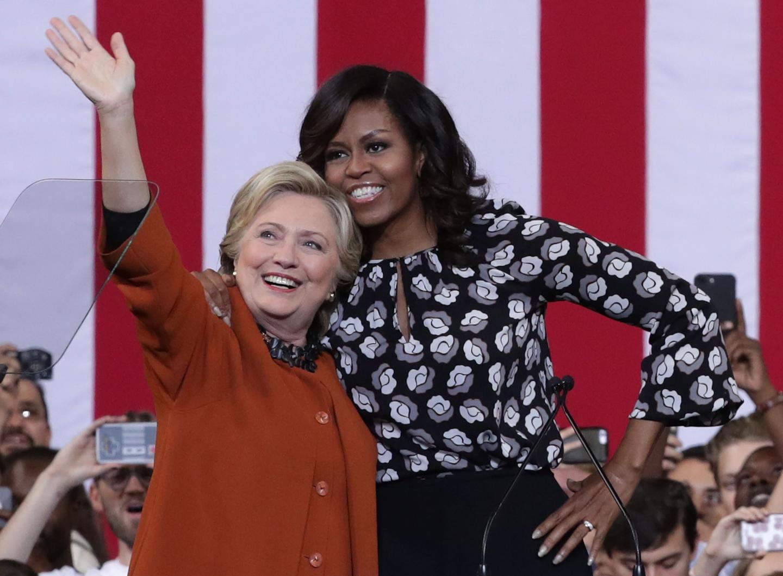 Хилари Клинтън и Мишел Обама