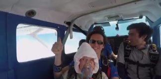 най-възрастният парашутист в света
