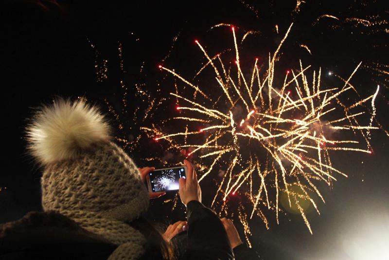 Нова година, сцена под звездите