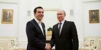 Алексис Ципрас, Владимир Путин