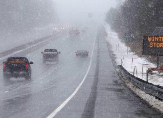 време, сняг, снежна буря, САЩ