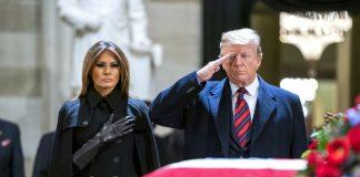 Доналд и Меналиня Тръмп, Джордж Буш-старши