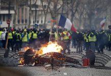 протести, Франция, Париж, жълти жилетки