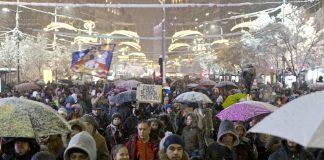 Белград, протест