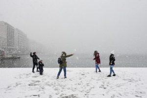 сняг, Гърция