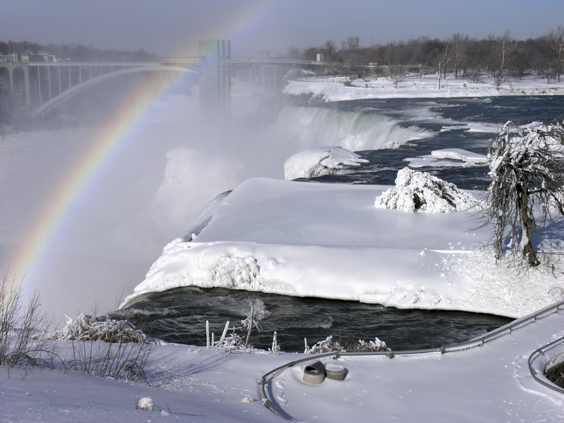 Ниагарския водопад, лед, сняг