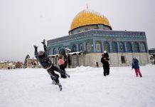 Йерусалим, сняг